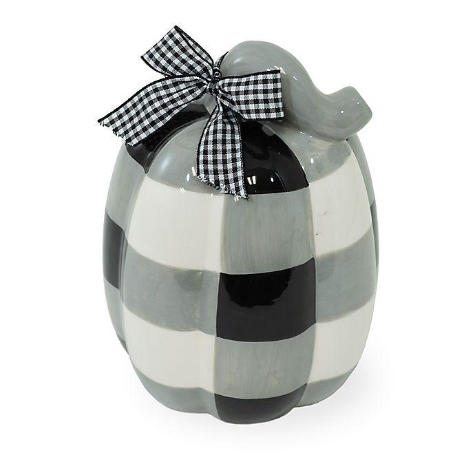 Alternate image 1 for Boston International 6.5-Inch Ceramic Buffalo Plaid Pumpkin