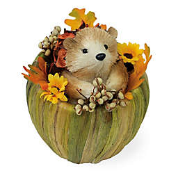 Boston International 7-Inch Honey Hedgehog in Pumpkin Decoration