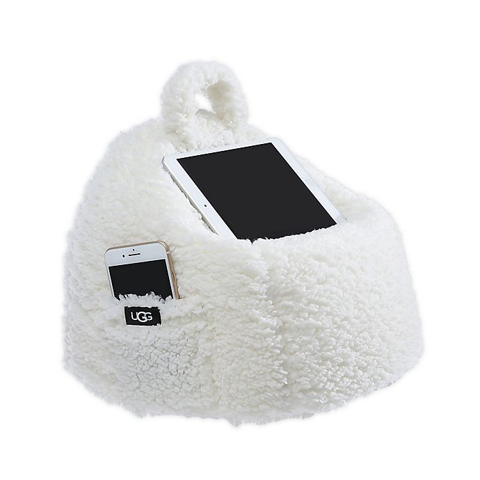 Alternate image 1 for UGG® Classic Sherpa Poof Tablet Pillow in Snow