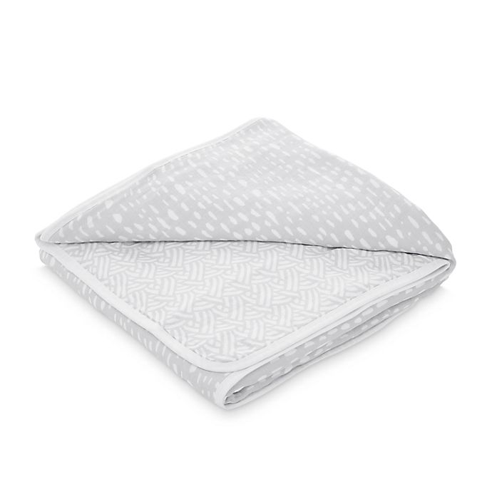 Alternate image 1 for aden + anais™ essentials Pasture Classic Dream Muslin Blanket in Grey