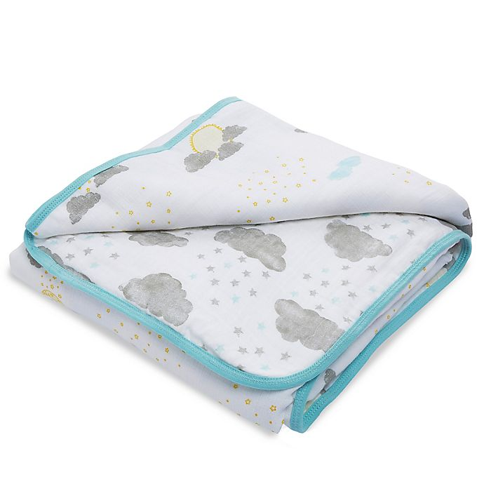 Alternate image 1 for aden + anais™ essentials Partly Sunny Muslin Blanket in Grey