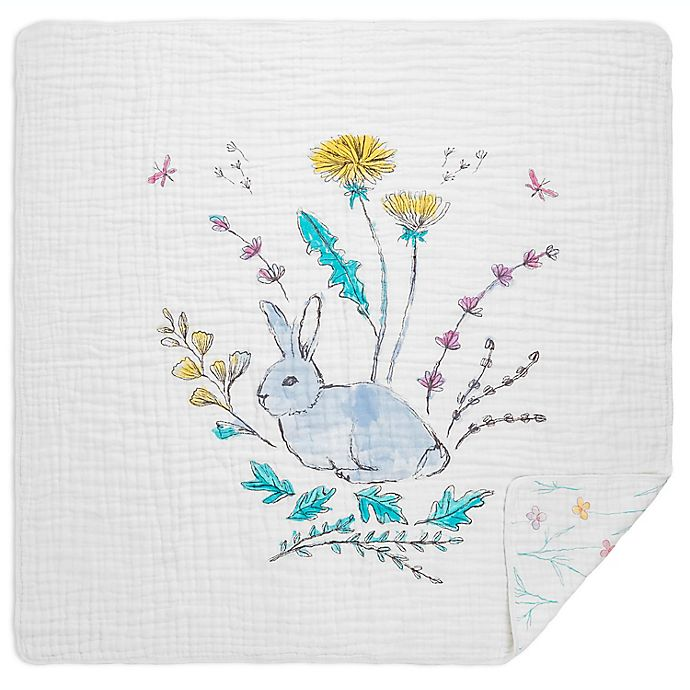 Alternate image 1 for aden + anais™ Forest Rabbits Classic Dream Muslin Blanket in Pink