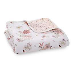 aden + anais™ Dahlias Classic Dream Muslin Blanket in Pink