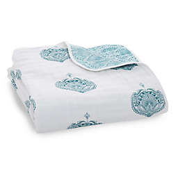 aden + anais™ Paisley Classic Dream Muslin Blanket in Teal