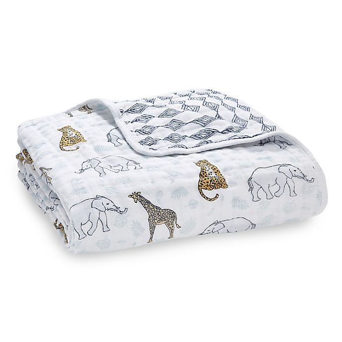 Alternate image 1 for aden + anais™ Jungle Classic Dream Muslin Blanket in Grey