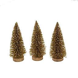 4-Inch Bottle Brush Trees (Set of 3)