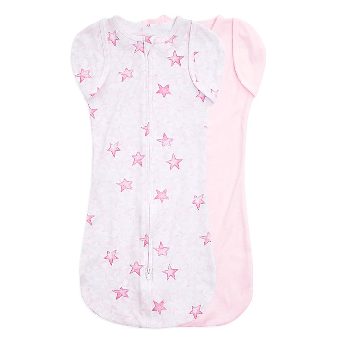 Alternate image 1 for aden + anais™ essentials easy swaddle™ Newborn 2-Pack Snug Swaddles in Pink