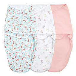 aden + anais™ essentials easy swaddle™ Size 4-6M 3-Pack Wrap Swaddles in Fairy Tale Flowers