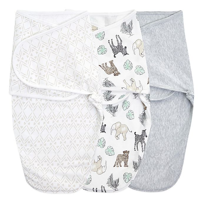 Alternate image 1 for aden + anais™ essentials easy swaddle™ 3-Pack Wrap Swaddles
