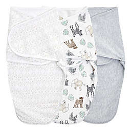 aden + anais™ essentials easy swaddle™ Size 0-3M 3-Pack Wrap Swaddles in Animal