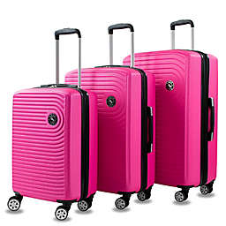 AMKA Spiral 3-Piece Hardside Spinner Luggage Set