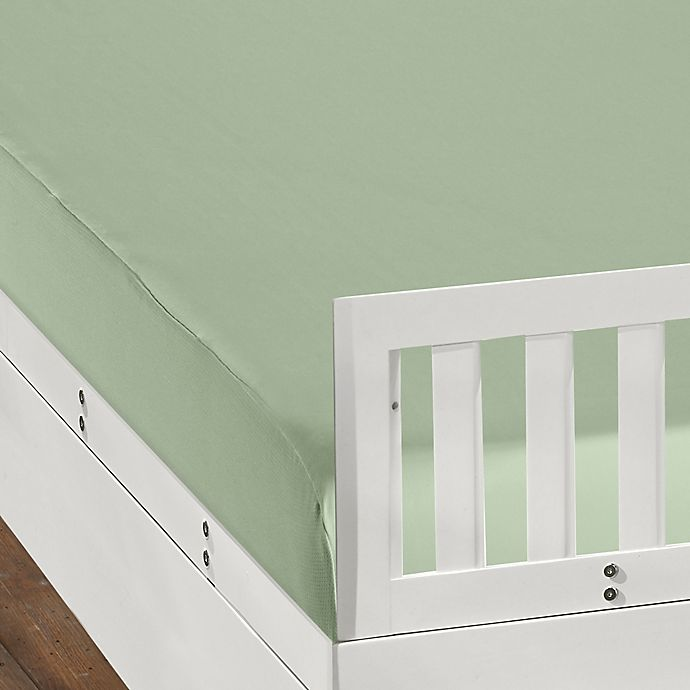 Alternate image 1 for BEDGEAR DRI-TEC Fitted Crib Sheet in Sage