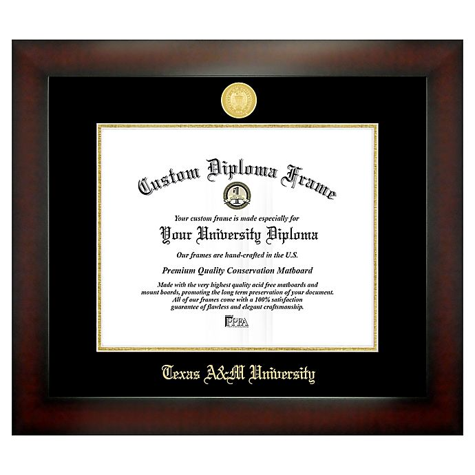 Alternate image 1 for Texas A&M University 11-Inch x 14-Inch Medallion Diploma Frame