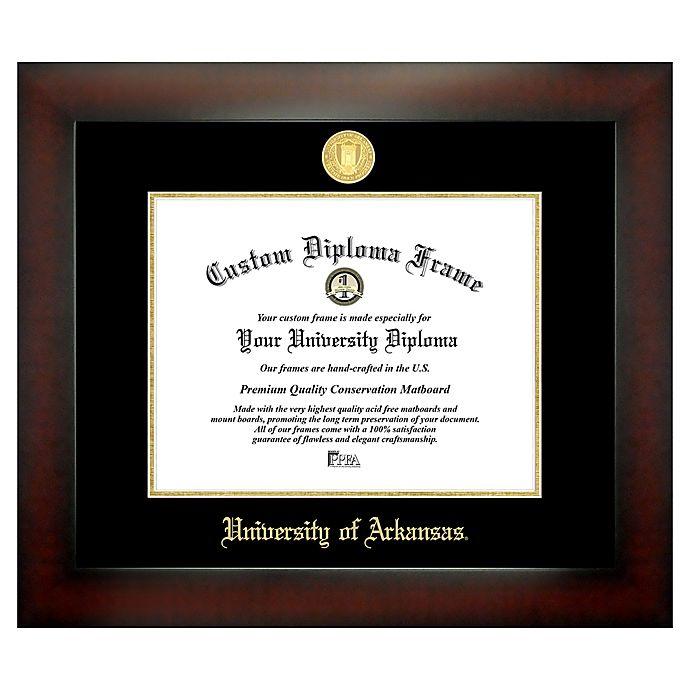 Alternate image 1 for University of Arkansas 8.5-Inch x 11-Inch Medallion Diploma Frame
