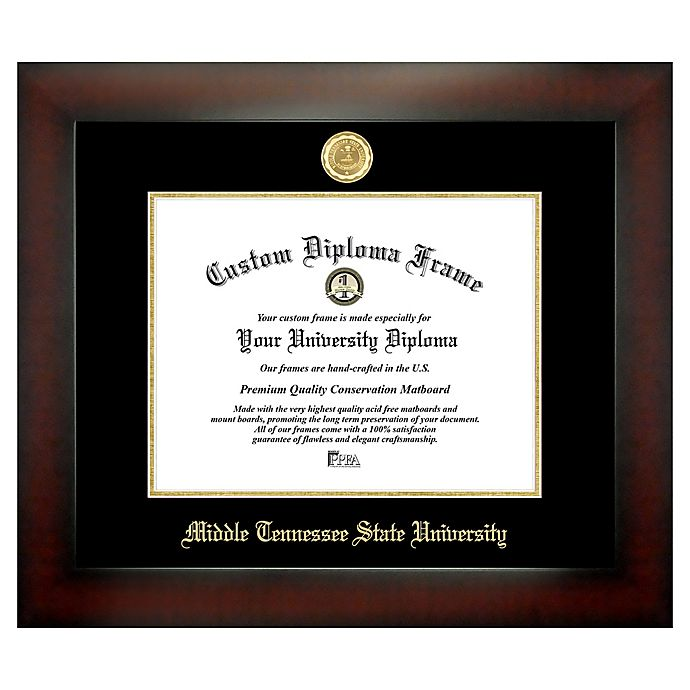 Alternate image 1 for Middle Tennessee State University 8.5-Inch x 11-Inch Medallion Diploma Frame