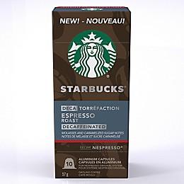 Starbucks® by Nespresso® Decaf Espresso 10-Count Capsules