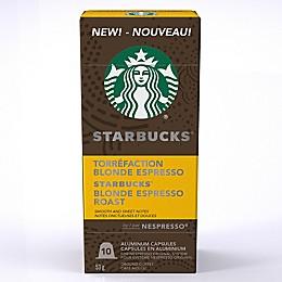 Starbucks® by Nespresso® Blonde Espresso 10-Count Capsules