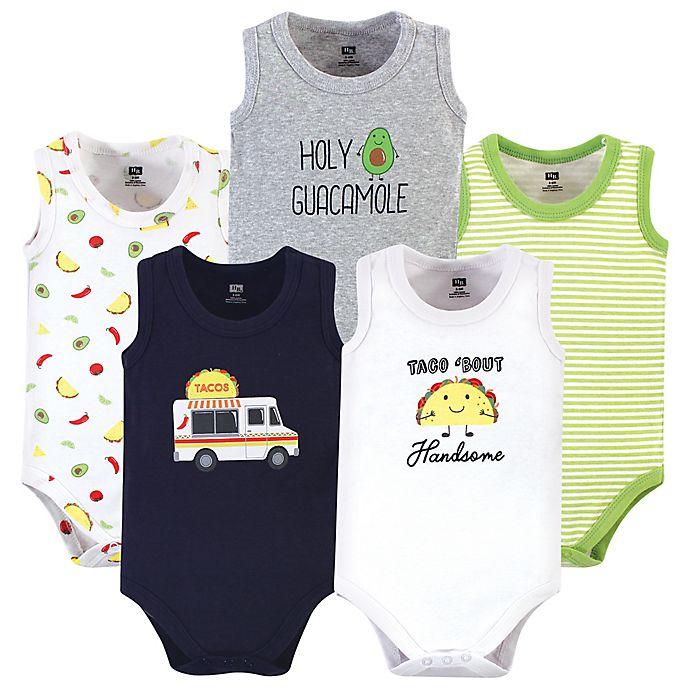 Alternate image 1 for Hudson Baby® 5-Pack Taco Truck Sleeveless Bodysuits