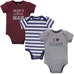 Hudson Baby® 3-Pack I Love Daddy Bodysuits in Grey/Red