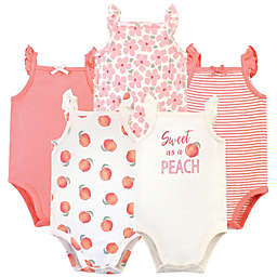 Touched by Nature Size 12-18M 5-Pack Peach Organic Cotton Bodysuits