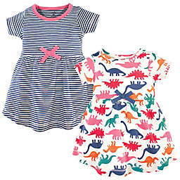 Touched by Nature 2-Pack Dinosaurs Organic Cotton Dresses