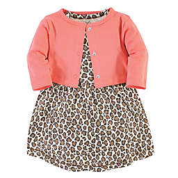 Touched by Nature® 2-Piece Leopard Organic Cotton Dress and Cardigan Set
