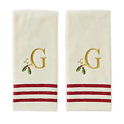 """Saturday Knight Holly Monogram """"G"""" Hand Towels (Set of 2)"""