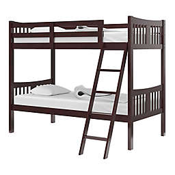 Storkcraft Caribou Twin Bunk Bed in Espresso
