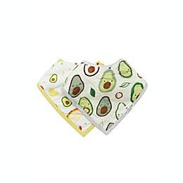 Loulou Lollipop 2-Pack Avocado Bandana Bibs