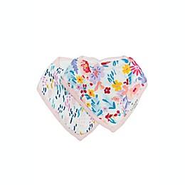Loulou Lollipop® 2-Pack Field Flowers Bandana Bibs in Pink/Blue