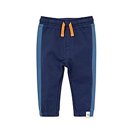 Burt's Bees Baby® Organic Cotton French Terry Colorblocked Pants in Navy