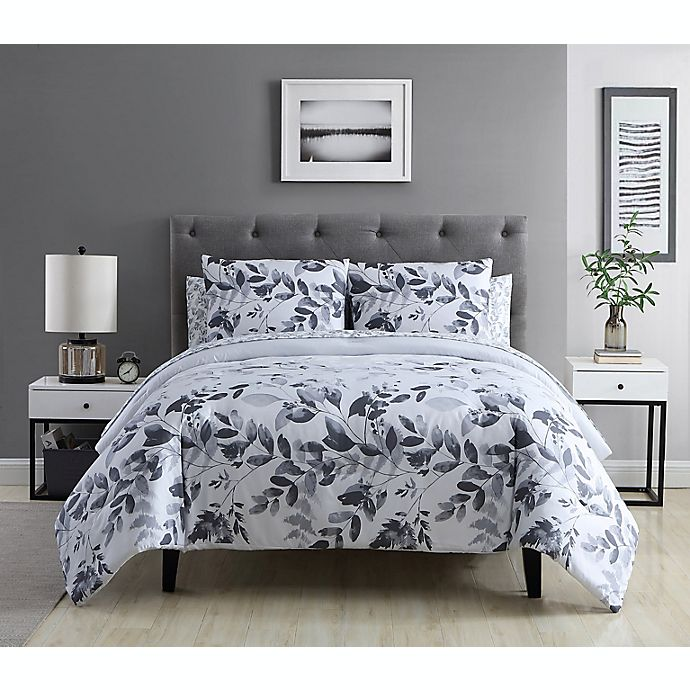 Alternate image 1 for Ellen Tracy Shadow Floral 7-Piece Comforter Set