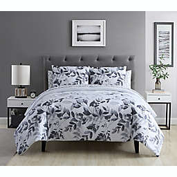 Ellen Tracy Shadow Floral 7-Piece Queen Comforter Set in Grey