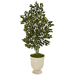 Nearly Natural 58-Inch Artificial Ficus Tree in Decorative Urn