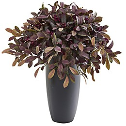 Nearly Natural 35-Inch Artificial Fall Laurel in Planter
