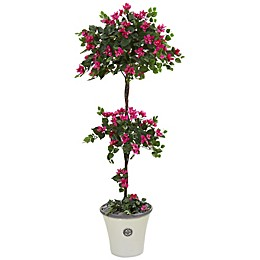 Nearly Natural 5-Foot Artificial Bougainvillea Topiary Tree in Planter