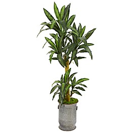 Nearly Natural 68-Inch Yucca Artificial Plant in Copper Planter