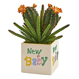 Nearly Natural 11-Inch Artificial Cacti and Succulent in Planter