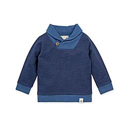 Burt's Bees Baby® French Terry Shawl Collar Sweatshirt in Navy