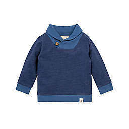Burt's Bees Baby® Size 0-3M French Terry Shawl Collar Sweatshirt in Navy