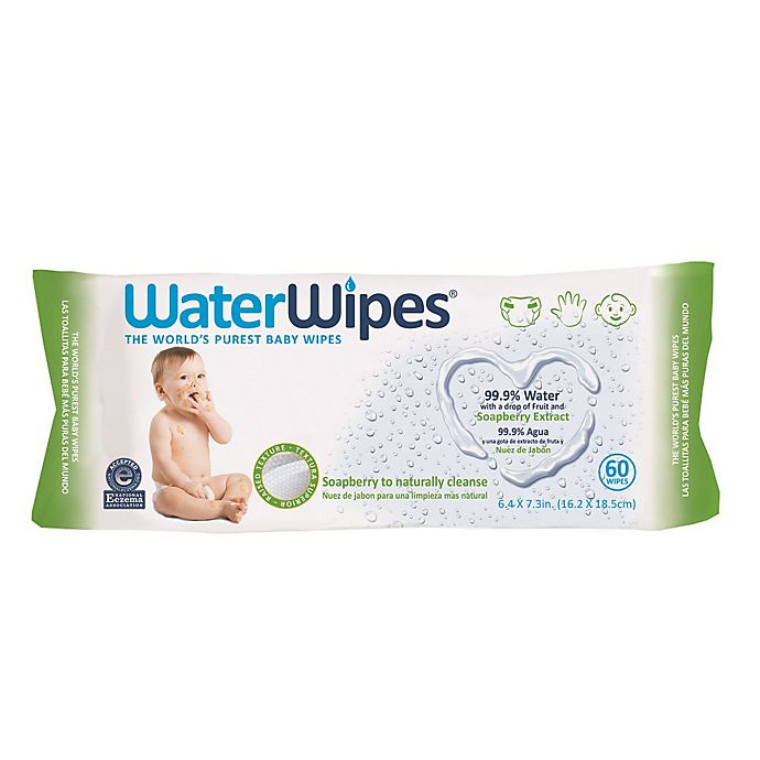 Alternate image 1 for WaterWipes 60-Count Soapberry Sensitive Baby Wipes in Unscented