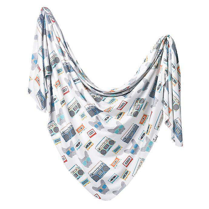 Alternate image 1 for Copper Pearl™ Bruno Swaddle Blanket in White