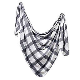 Copper Pearl Hudson Swaddle Blanket in Grey/White