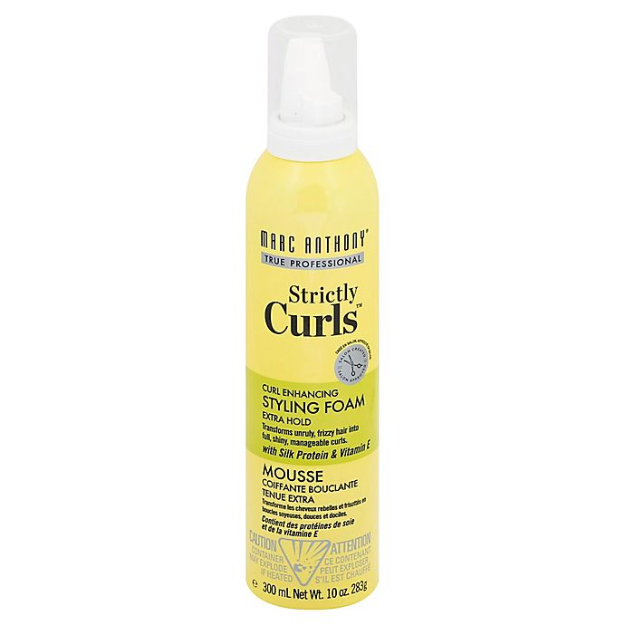 Alternate image 1 for Marc Anthony Strictly Curls™ 10 oz. Frizz Control Styling Foam