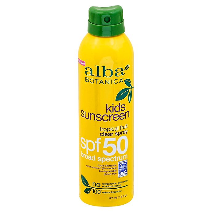 Alternate image 1 for Alba Botanica® Tropical Fruit Clear Spray Kids SPF 50 Sunscreen