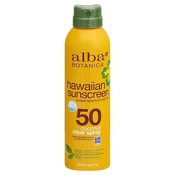 Alternate image 1 for Alba Botanica® SPF 50 Clear Spray Hawaiian Sunscreen