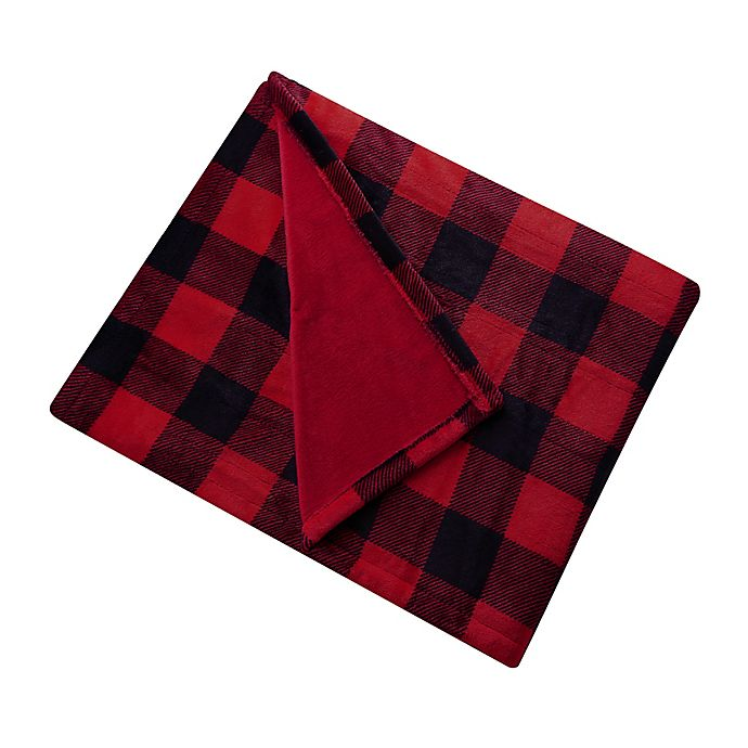 Alternate image 1 for Brookstone® n-a-p® Heated Plush Throw Blanket in Red/Black