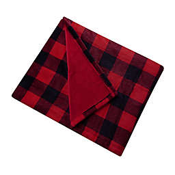Brookstone® n-a-p® Heated Plush Throw Blanket in Red/Black