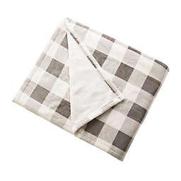 Brookstone® n-a-p® Heated Plush Throw Blanket in Ivory/Grey