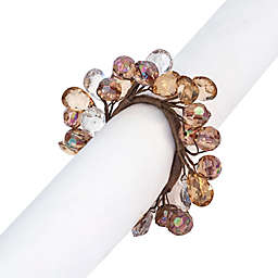 Autumn Gem Wreath Napkin Rings (Set of 4)